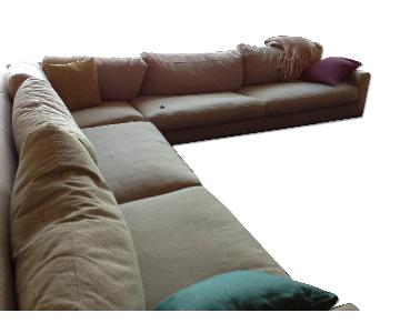 Room & Board 3-Piece Hess Sectional Sofa in Oatmeal