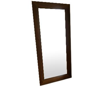 Room & Board Walnut Standing Floor Mirror