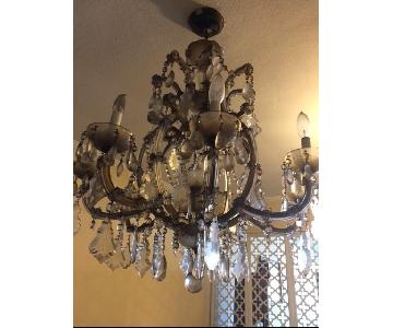 Vintage Maria Theresa Style Crystal Chandelier