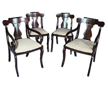 Vintage Regency Style Mahogany Dining/Side Chairs