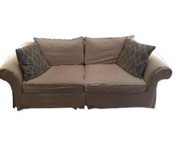 Ballard Designs Slipcover Sofa in Cotton Twill