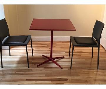 MDF Italia Dining Table w/ 2 Lema Chairs