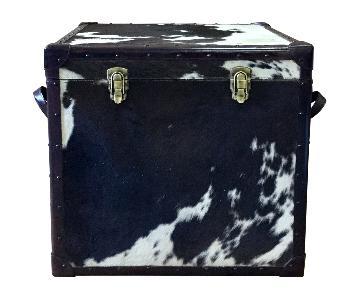 Hairon Square Leather Storage Trunk Box