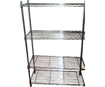 4 -Tier Shelf in Metalic Silver