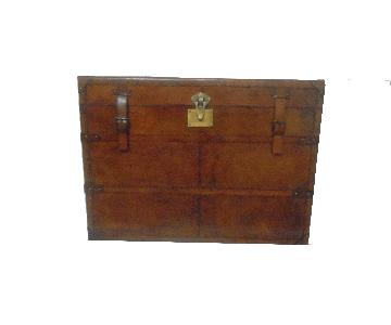 Leather Rectangle Side Trunk
