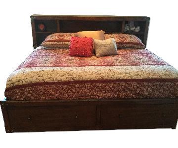 Ashley's Full Size Storage Bed w/ Bookcase Headboard