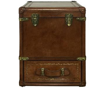 Rectangle Leather Storage Box w/ Drawers