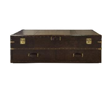 Rectangular Leather Bed End Chest