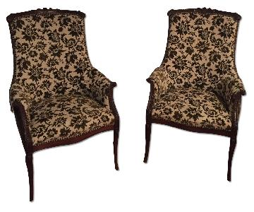 Antique Floral Chairs