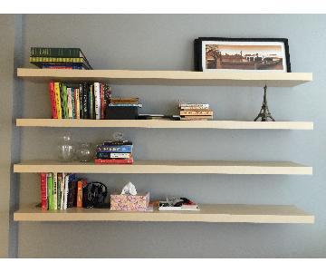 Ikea Lack Wall Shelves in Birch Finish