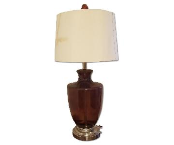 Reddish Brown Glass Lamp