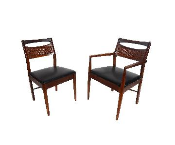 American of Martinsville Mid Century Modern Walnut Dining Chairs
