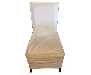 Pottery Barn White Chair Slipcovers
