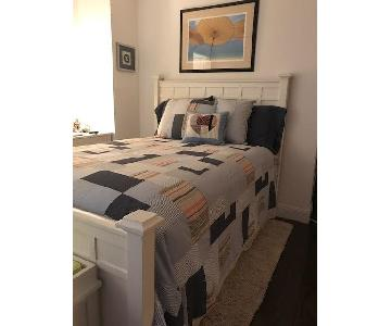 Crate & Barrel Full Size White Bed Frame