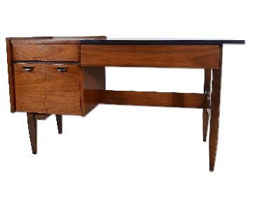 Hooker Furniture Mid Century Modern Walnut Desk