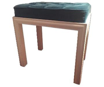 Tufted Velvet Stool