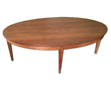 Thomas Moser Cherry Oval Ring Coffee Table