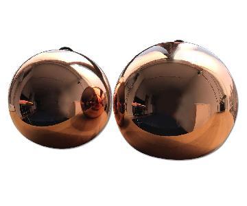Tom Dixon Light Fixtures w/ Copper Shades
