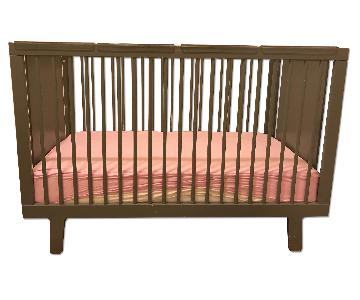 Oeuf Sparrow Crib in Slate