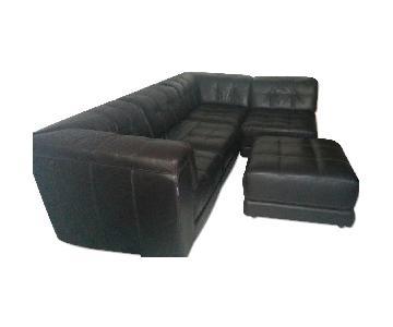 Chateau D'ax Leather 5-Piece Modular Sofa