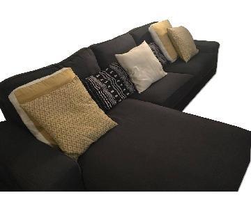 Ikea Kivik Sectional Sofa in Dark Gray