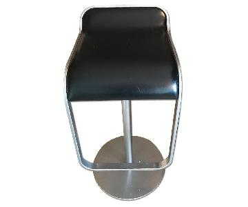 LEM Piston Stools w/ Leather Seat
