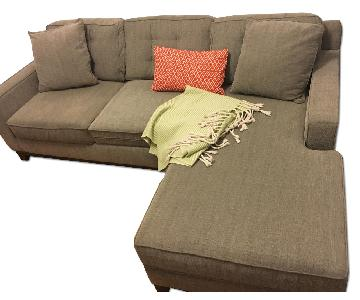 Two Piece Small Sectional Sofa
