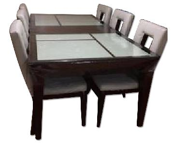 Raymour & Flanigan Dining Table w/ 6 Chairs