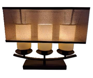 Dimond Lighting 3-Light Dark Brown Bronze Dimmable Candle Table Lamp w/ LED Bulbs