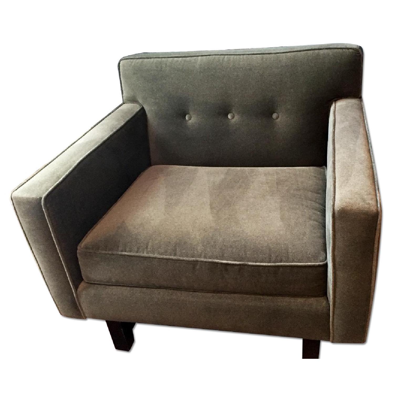 Room & Board Andre Chair in Custom Charcoal Velvet