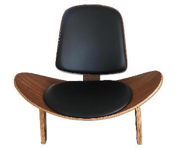 Mid Century Brown Replica Wegner Chair