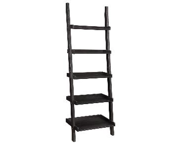 Cappuccino Ladder Bookcase w/ 5 Shelves