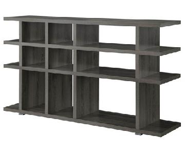 Modern Bookcase in Weathered Grey Finish