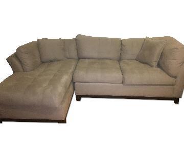 Cindy Crawford Home Metropolis 2-Piece Microfiber Sectional Sofa