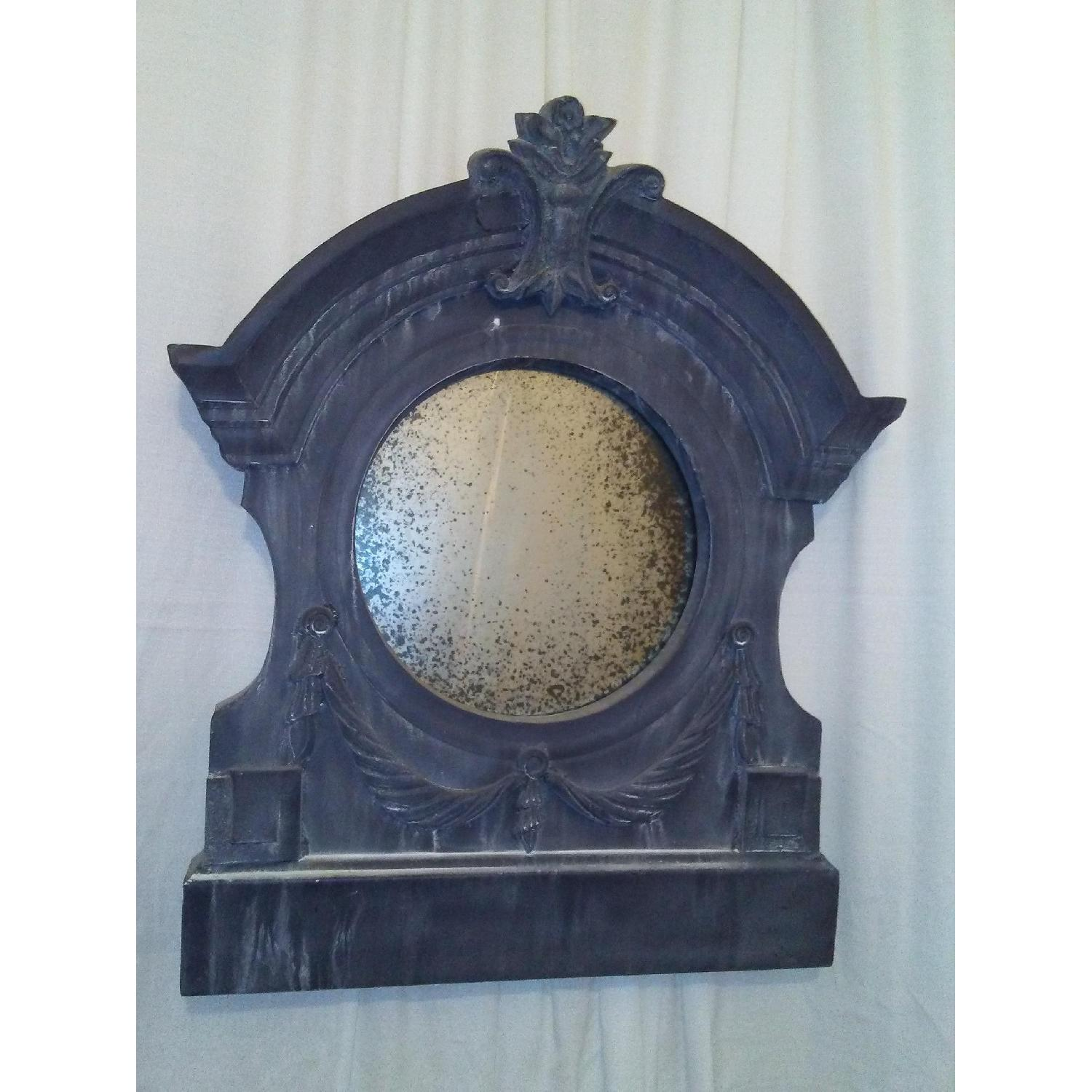 Aidan Gray Home Antique Reproduction Metal Framed Mirror - image-1