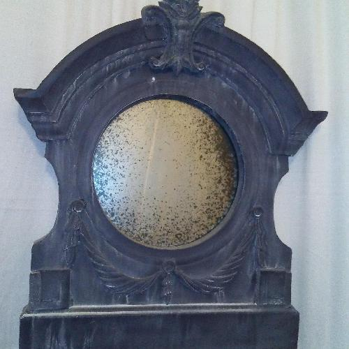 Used Aidan Gray Home Antique Reproduction Metal Framed Mirror for sale on AptDeco