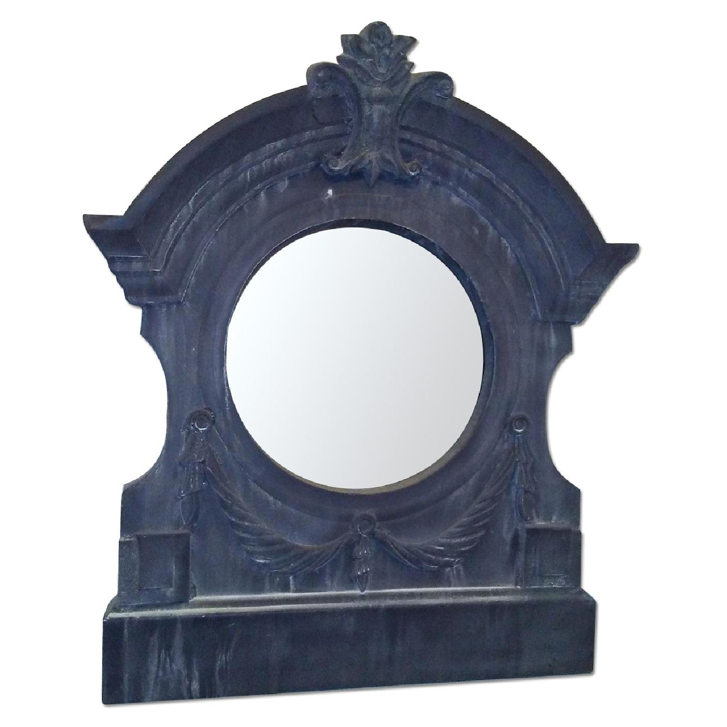 Aidan Gray Home Antique Reproduction Metal Framed Mirror - image-0