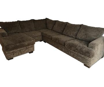 Rooms To Go L-Shaped Sectional Sofa
