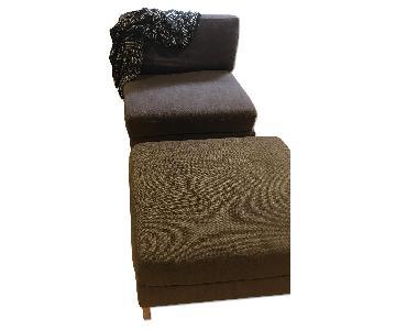 West Elm Chair & Ottoman