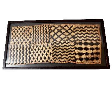 Vintage Framed Velvet Kuba Cloth