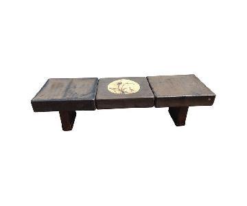 Outdoor Asian Motif Three Piece Coffee Table