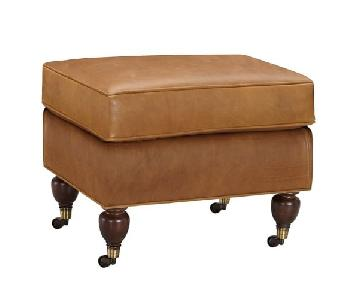 Pottery Barn Brooklyn Leather Ottoman