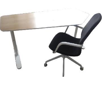 Ikea Bekant Office Desk & Chair
