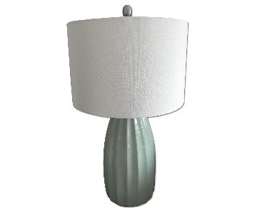 Decor Therapy Blue Crackle Table Lamp