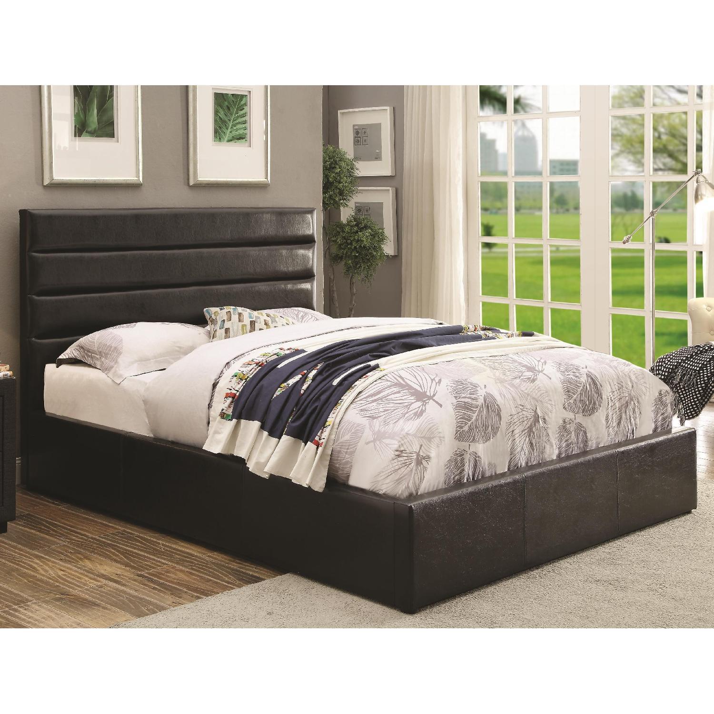 Modern Style King Size Lift Up Storage Platform Bed Aptdeco
