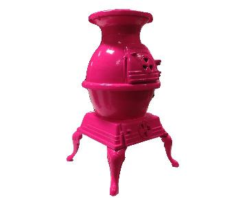 Hot Pink Pot Belly Stove