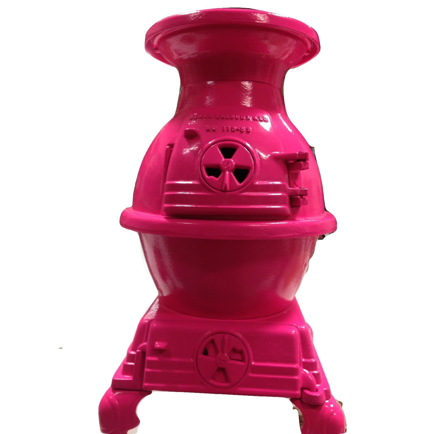 Hot Pink Pot Belly Stove-1