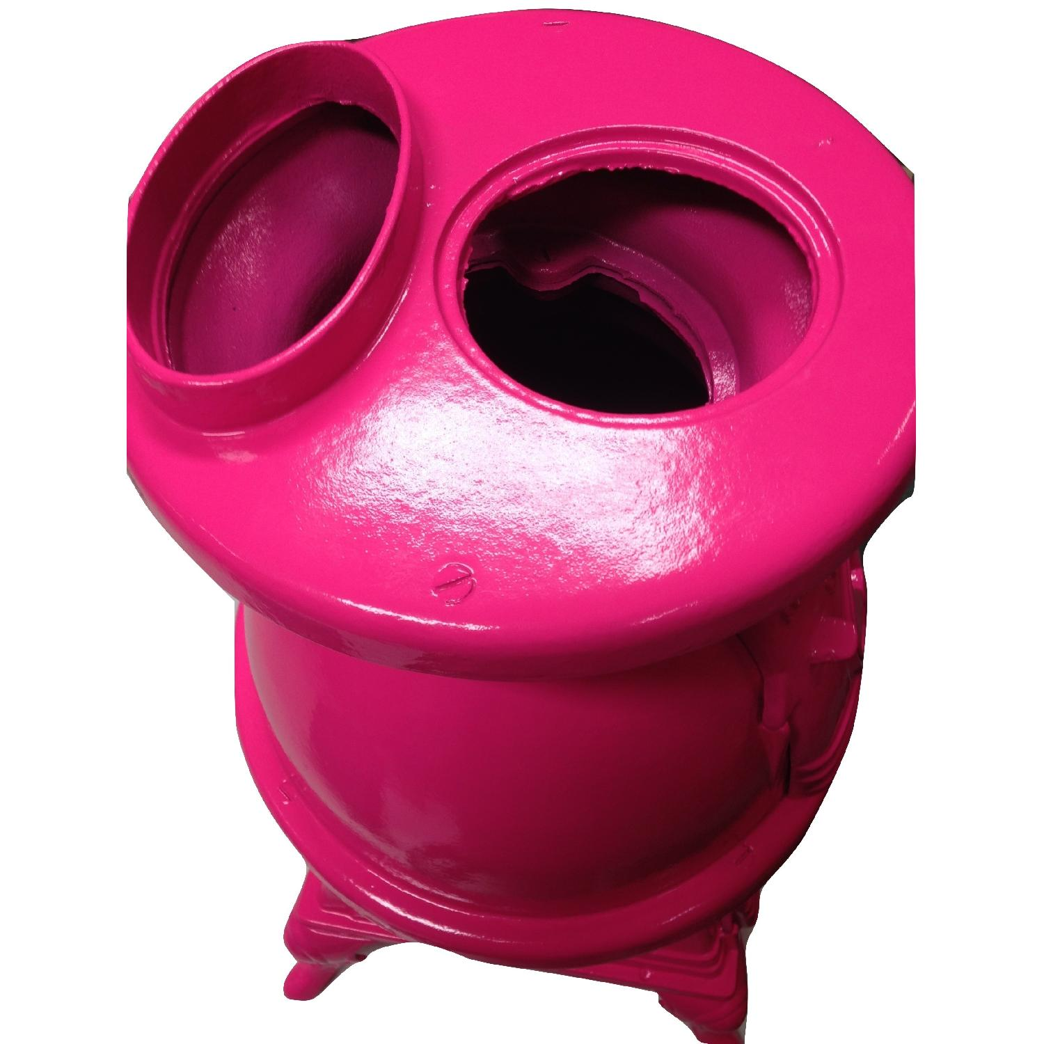 Hot Pink Pot Belly Stove-8