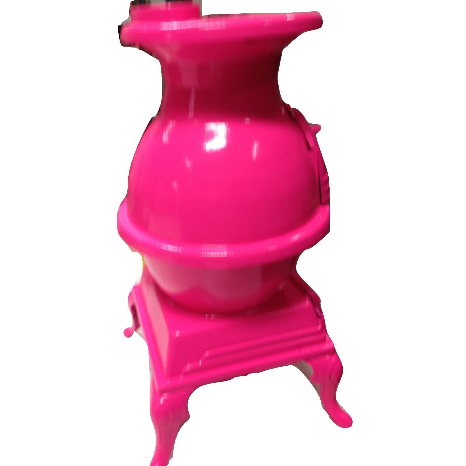 Hot Pink Pot Belly Stove-9