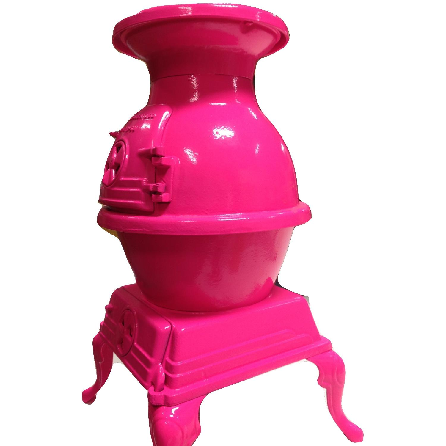 Hot Pink Pot Belly Stove-12